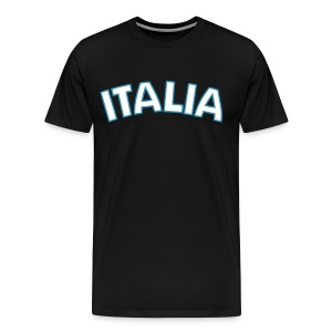 3XL ITALIA Logo T, Black - Men's Premium T-Shirt