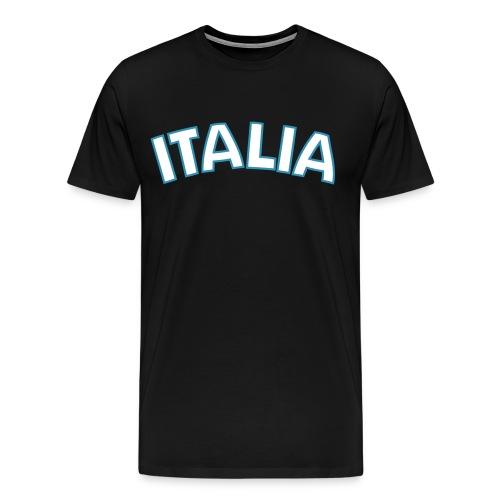 3XL ITALIA Logo T, Black - Men's Premium T-Shirt