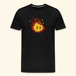 Scanline_Fireball - Men's Premium T-Shirt
