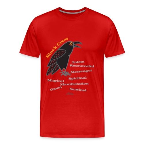Black Crow Totem - Men's Premium T-Shirt