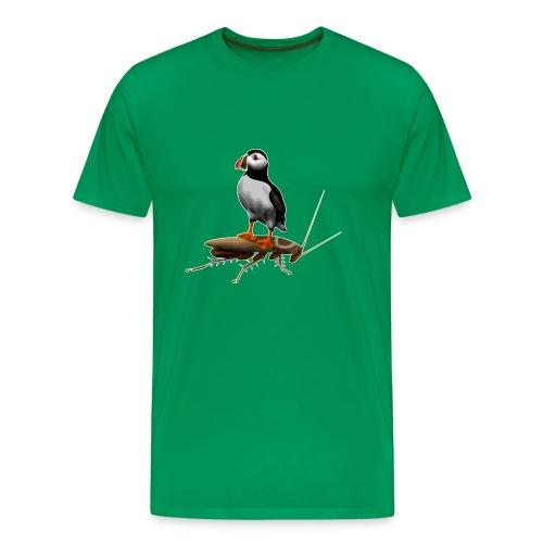 Puffin on a Roach - Men's Premium T-Shirt