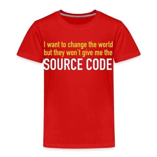 Coders - Change the world T-Shirt Red Kids - Toddler Premium T-Shirt