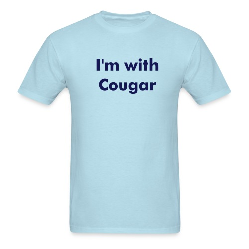 I'm with cougar - Men's T-Shirt