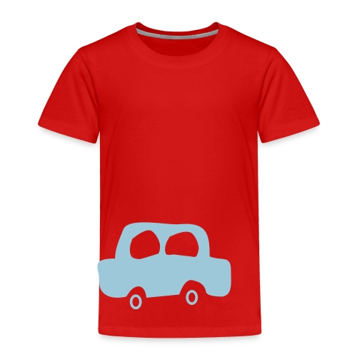 Red shirt blue car tee - Toddler Premium T-Shirt