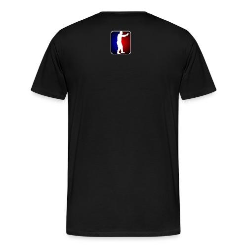Major League Pistol - small design on back of pick-a-color tee - Men's Premium T-Shirt