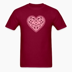 Burgundy Heart Design T-Shirts