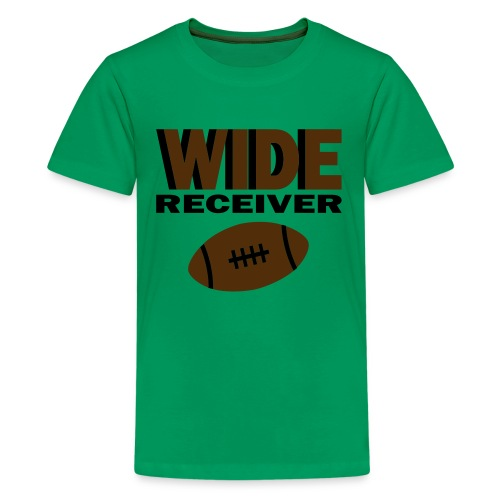 Kool Kids Tees 'Wide Receiver With Football' Kids' Tee in Green - Kids' Premium T-Shirt