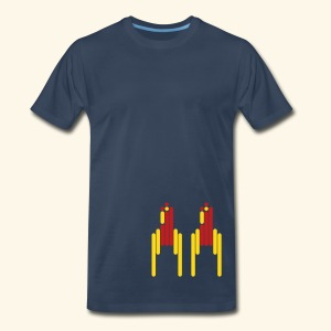 Scanline_Rockets - Men's Premium T-Shirt