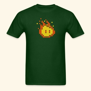 Scanline_Fireball - Men's T-Shirt