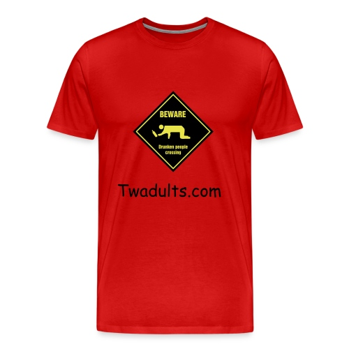 Beware Man Red - Men's Premium T-Shirt
