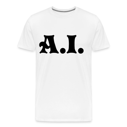 A.I. white Mens shirt - Men's Premium T-Shirt