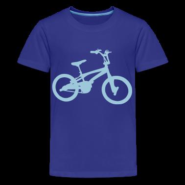 Royal blue BMX - Bike Kids Shirts