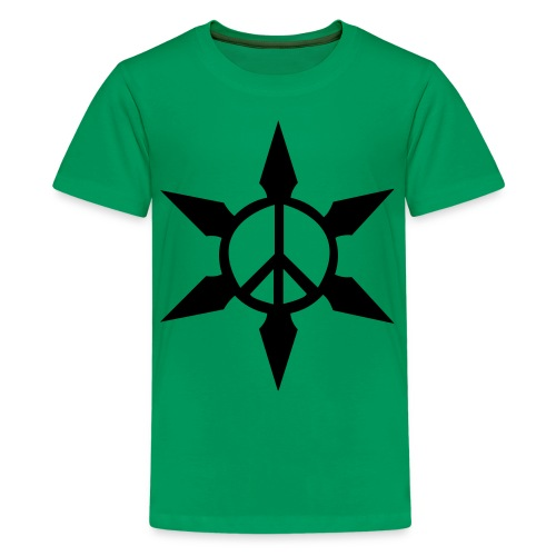Peace Ninja Star - Kids' Premium T-Shirt