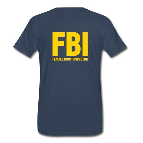 FBI w/ tie - Men's Premium T-Shirt