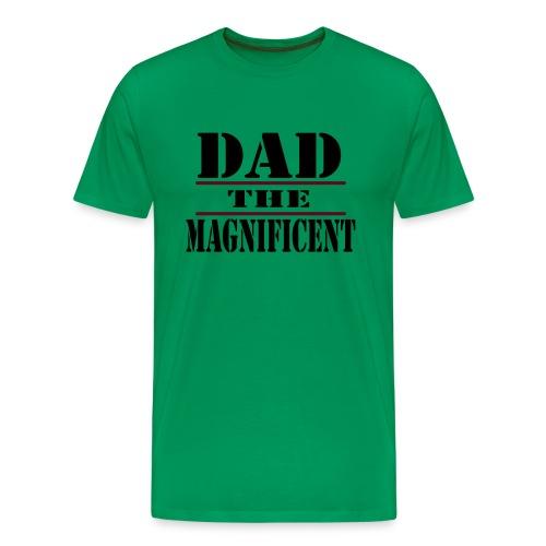 WUBT 'Dad The Magnificent' Men's Heavy T-Shirt, Sage - Men's Premium T-Shirt