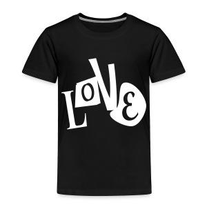 WUBT 'Love Distorted' Toddler T-Shirt, Black - Toddler Premium T-Shirt
