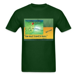 Mark Twain Travel to Learn Quote T-Shirt - Men's T-Shirt
