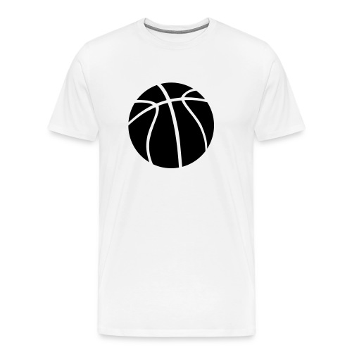 white heavy weight mens t/shirt basketball  design - Men's Premium T-Shirt