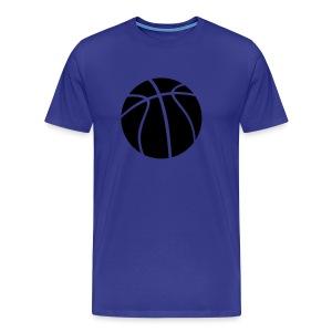 blue  heavy weight mens t/shirt basketball  design - Men's Premium T-Shirt