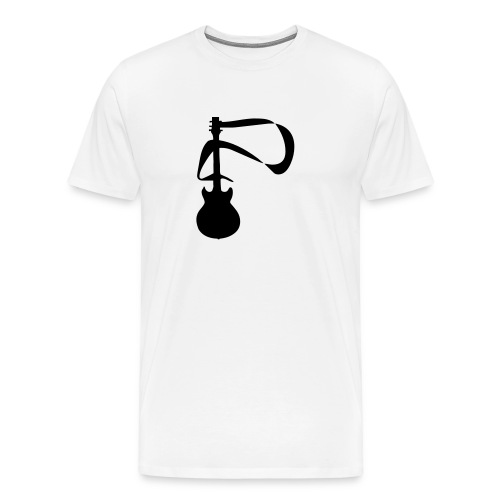 blue  heavy weight mens t/shirt guitar  design - Men's Premium T-Shirt