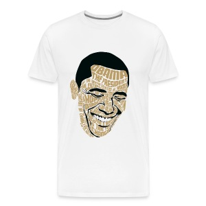 Wordsworth Obama Men - WHITE 3X - Men's Premium T-Shirt