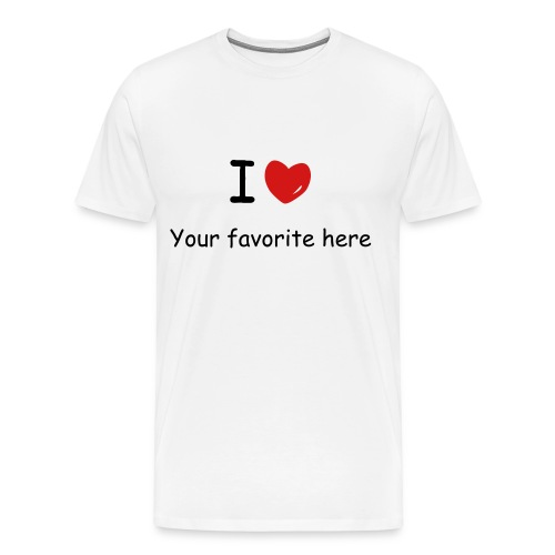 Plain I love shirt - Men's Premium T-Shirt