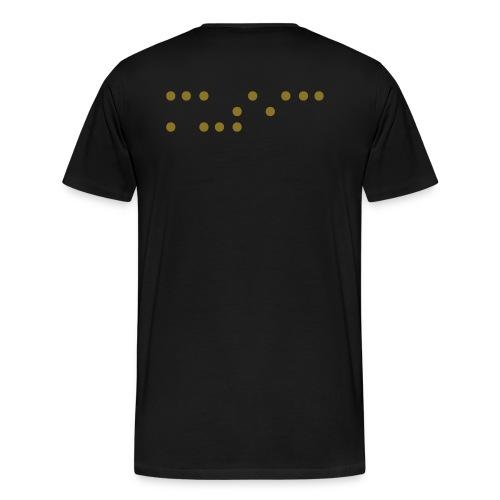 music blind back GOLD - Men's Premium T-Shirt