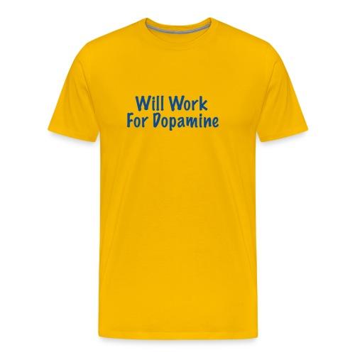 Men's Dopamine T-Shirt; blue letters - Men's Premium T-Shirt