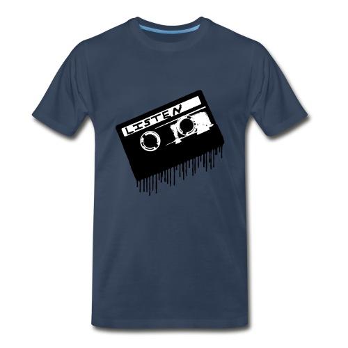 Black LISTEN TAPE Men's T-Shirt - Men's Premium T-Shirt