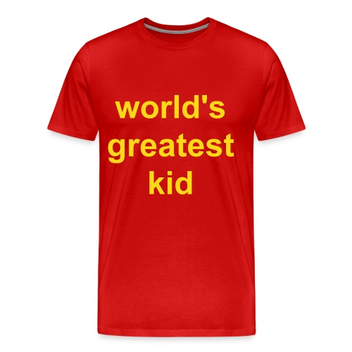 world's greatest kid - Men's Premium T-Shirt