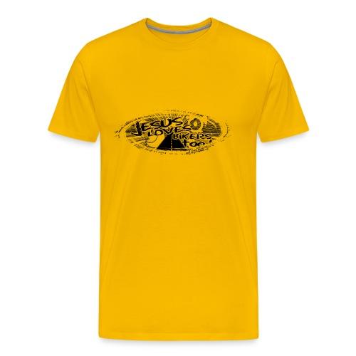 Black logo Jesus Loves Bikers Too - Men's Premium T-Shirt