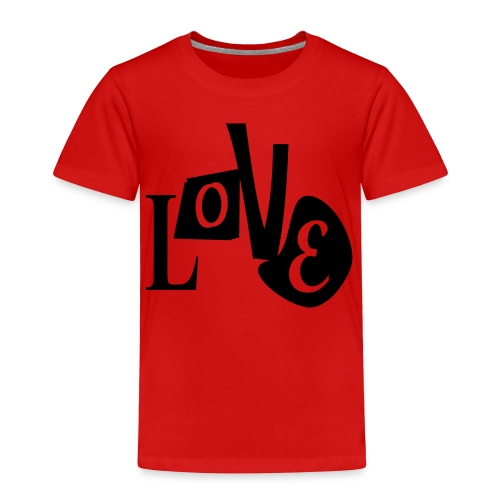 WUBT 'Love Distorted' Toddler T-Shirt, Red - Toddler Premium T-Shirt