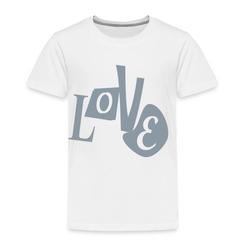WUBT 'Love Distorted' Toddler T-Shirt, White - Toddler Premium T-Shirt