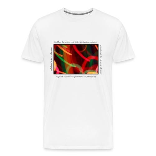 Painted Light T-shirt - Picasso - Men's Premium T-Shirt