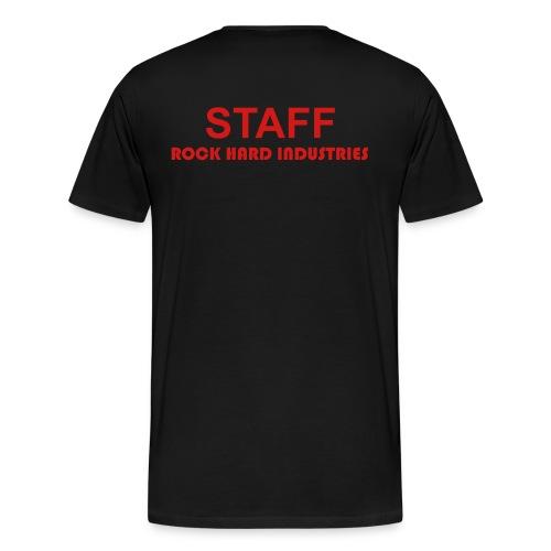 Staff Rock Hard Industries - Blk SS Men - Men's Premium T-Shirt