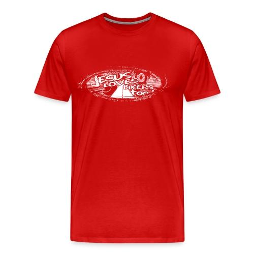 jesus_loves_bikers_white - Men's Premium T-Shirt