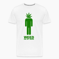 White Weed on my mind T-Shirts