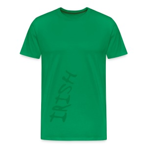 WUBT 'Irish Upside Down' Men's Heavy Tee, Sage - Men's Premium T-Shirt
