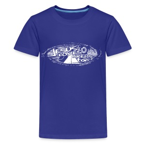 Jesus Loves Bikers Too - Kids' Premium T-Shirt