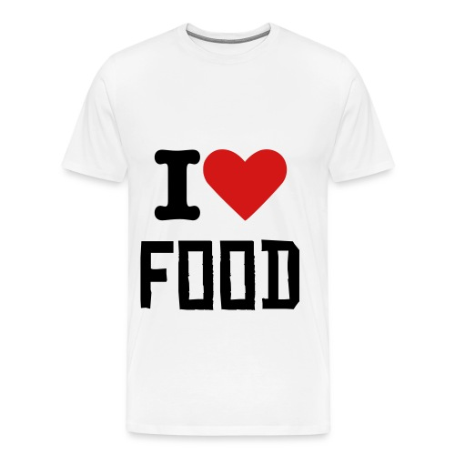i love food T - Men's Premium T-Shirt