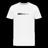 T-Shirts ~ Men's Premium T-Shirt ~ Zone system white men's heavyweight (back + front)
