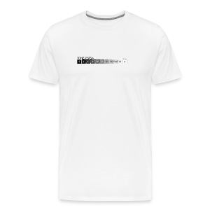 Zone system white men's heavyweight (back + front) - Men's Premium T-Shirt