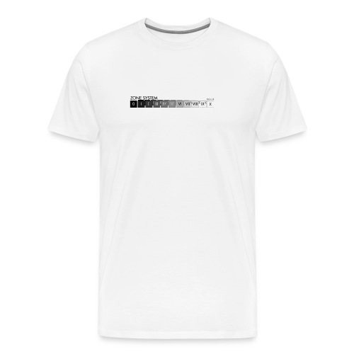 Zone system white men's heavyweight (back + front) - Men's Premium T-Shirt