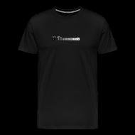 T-Shirts ~ Men's Premium T-Shirt ~ Zone system black men's heavyweight (back + front)