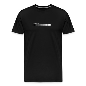 Zone system black men's heavyweight (back + front) - Men's Premium T-Shirt