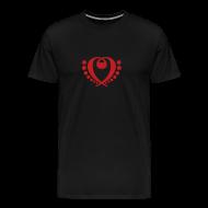 T-Shirts ~ Men's Premium T-Shirt ~ Bass Clef Pattern (Choose Color)