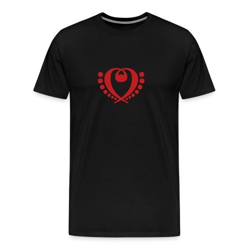 Bass Clef Pattern (Choose Color) - Men's Premium T-Shirt