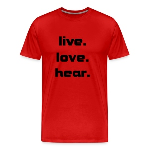 live.love.hear (mens) - Men's Premium T-Shirt