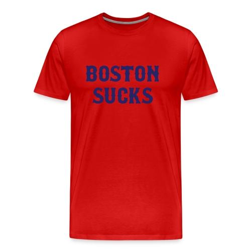 Boston Sucks Heavyweight T Shirt - Men's Premium T-Shirt