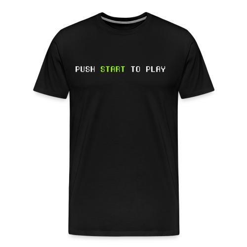 push start white - Men's Premium T-Shirt